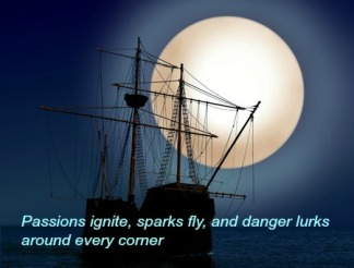 ship and moon