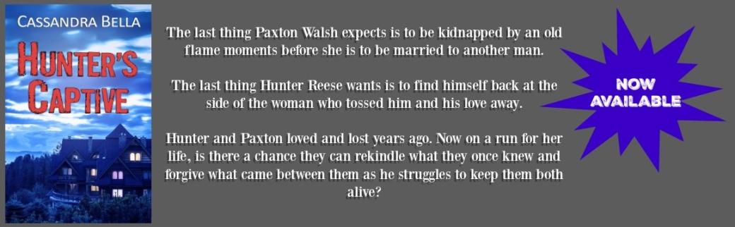 hunter's captive website header